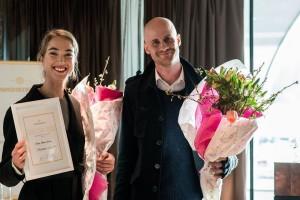 Master blenders Grönstedt Sommelier Award 2014! Hugo Danneholm  och Stéphanie Giertta