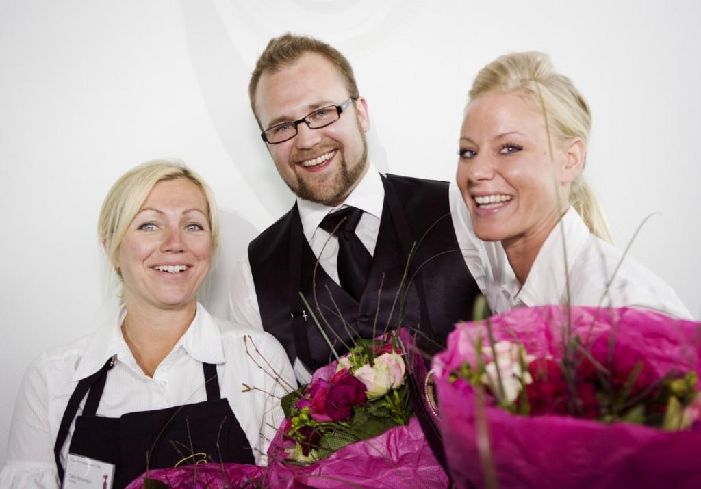 Vinnarlaget Rioja Sommelier Award 2010! Erica Saettler, Oskar Andreasson och Carin Simonsson.